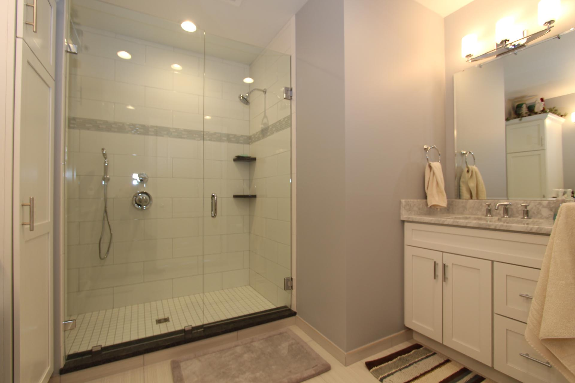 Bathroom Sink and Shower | 9 East Main St | Uptown Bay City