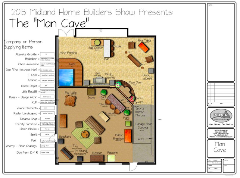 Sneak Peek at the Man Cave – Midland Home Builder's Show Next Weekend
